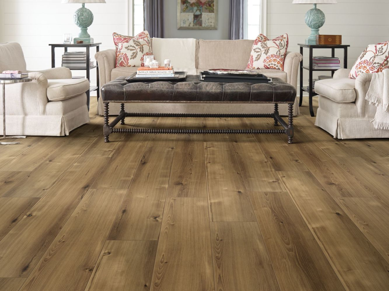 Shaw Floors Resilient Residential Allegiance+ Accent Barnwell Hickory 06000_2008V