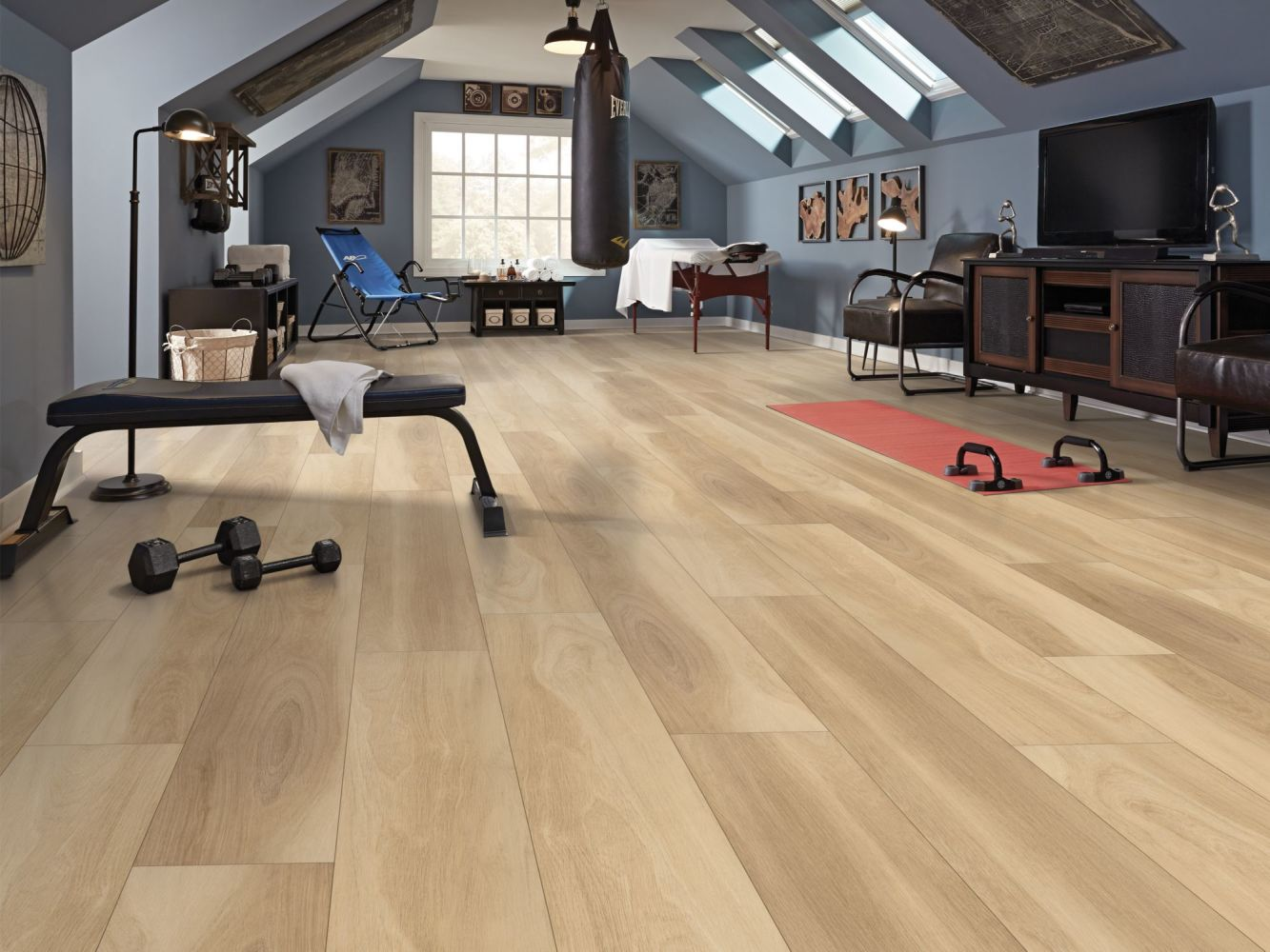 Shaw Floors Resilient Residential Intrepid HD Plus Natural Oak 02000_2024V