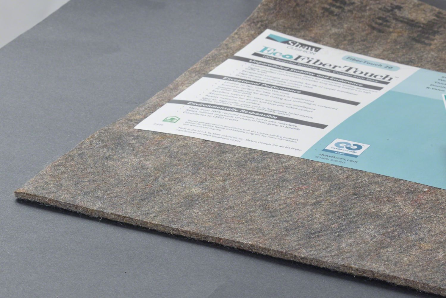 Shaw Floors Eco Edge Cushion Fibertouch 20-12 Grey 00001_203FT