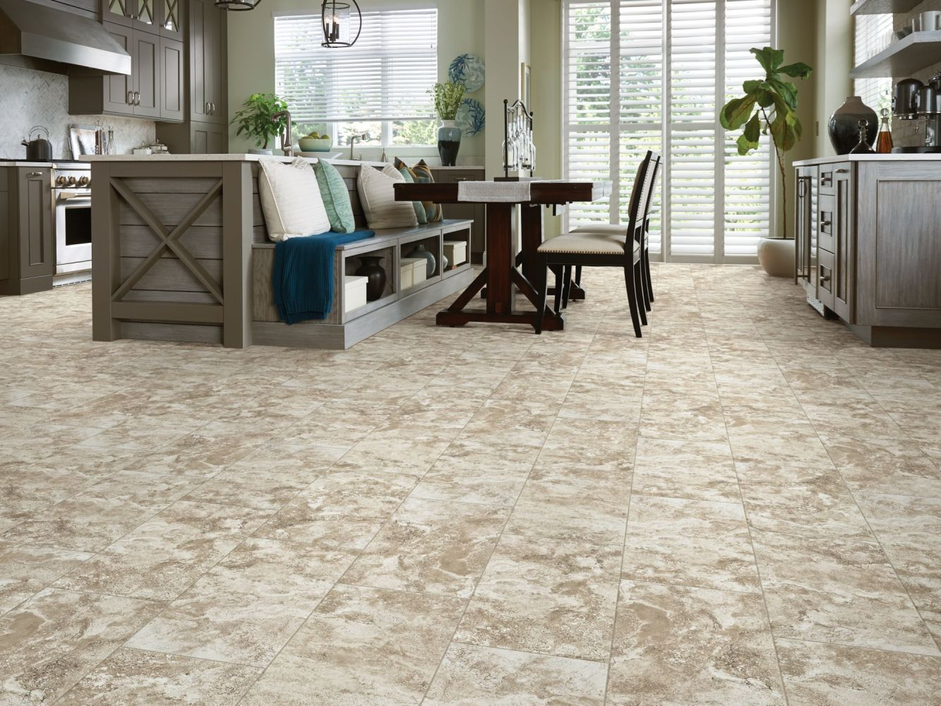 Shaw Floors Ceramic Solutions Stonework 13×13 Brown 00700_243TS