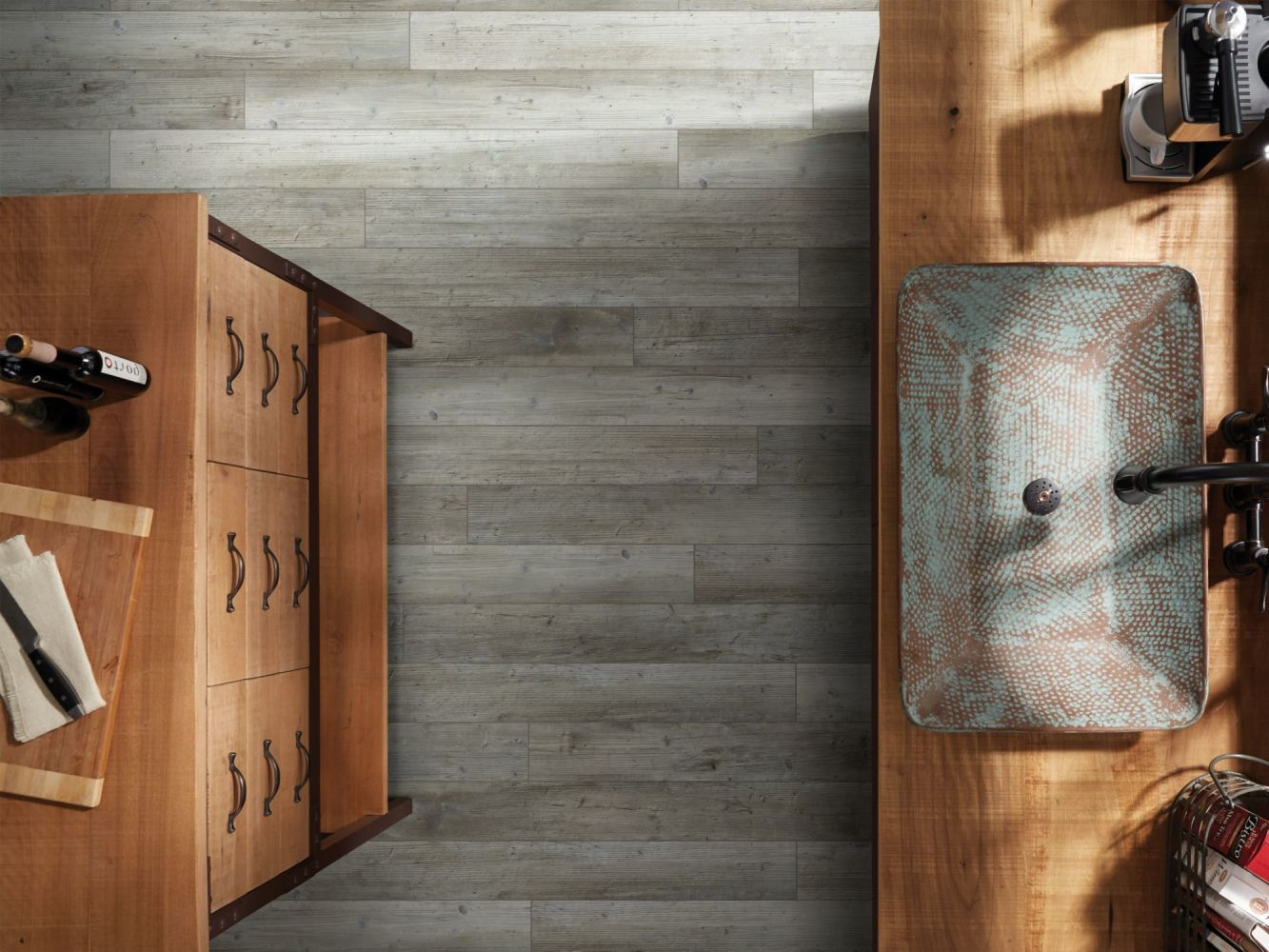 Shaw Floors Vinyl Residential Grand Marais5″plus Distinct Pine 05039_505GA