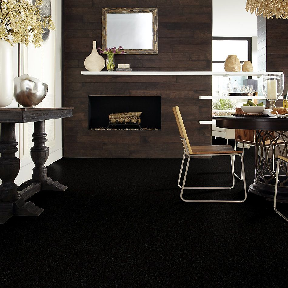 Shaw Floors Shaw Floor Studio Textured Story 15 Coal Black 55502_52B76
