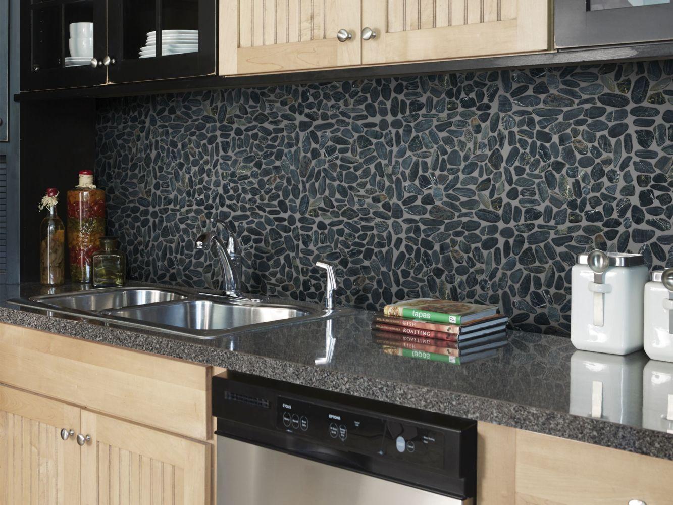 Shaw Floors Ceramic Solutions Pebble Sliced Volga Black 00900_CS13L