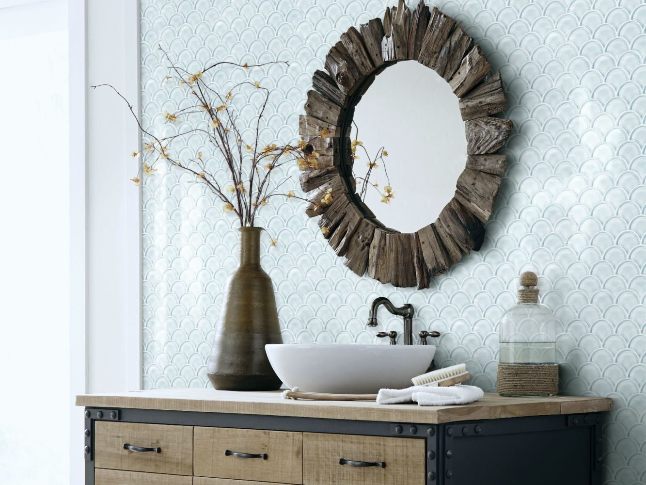 Shaw Floors Ceramic Solutions Cardinal Fan Glass Mosaic Skylight 00150_CS16Z