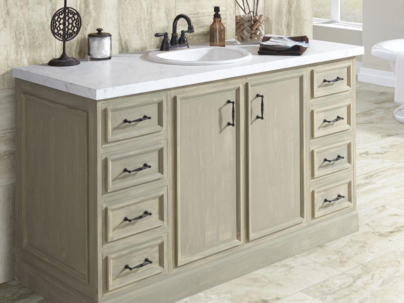 Shaw Floors Ceramic Solutions Genesis Wall Listello 1 Taupe 00750_CS27V