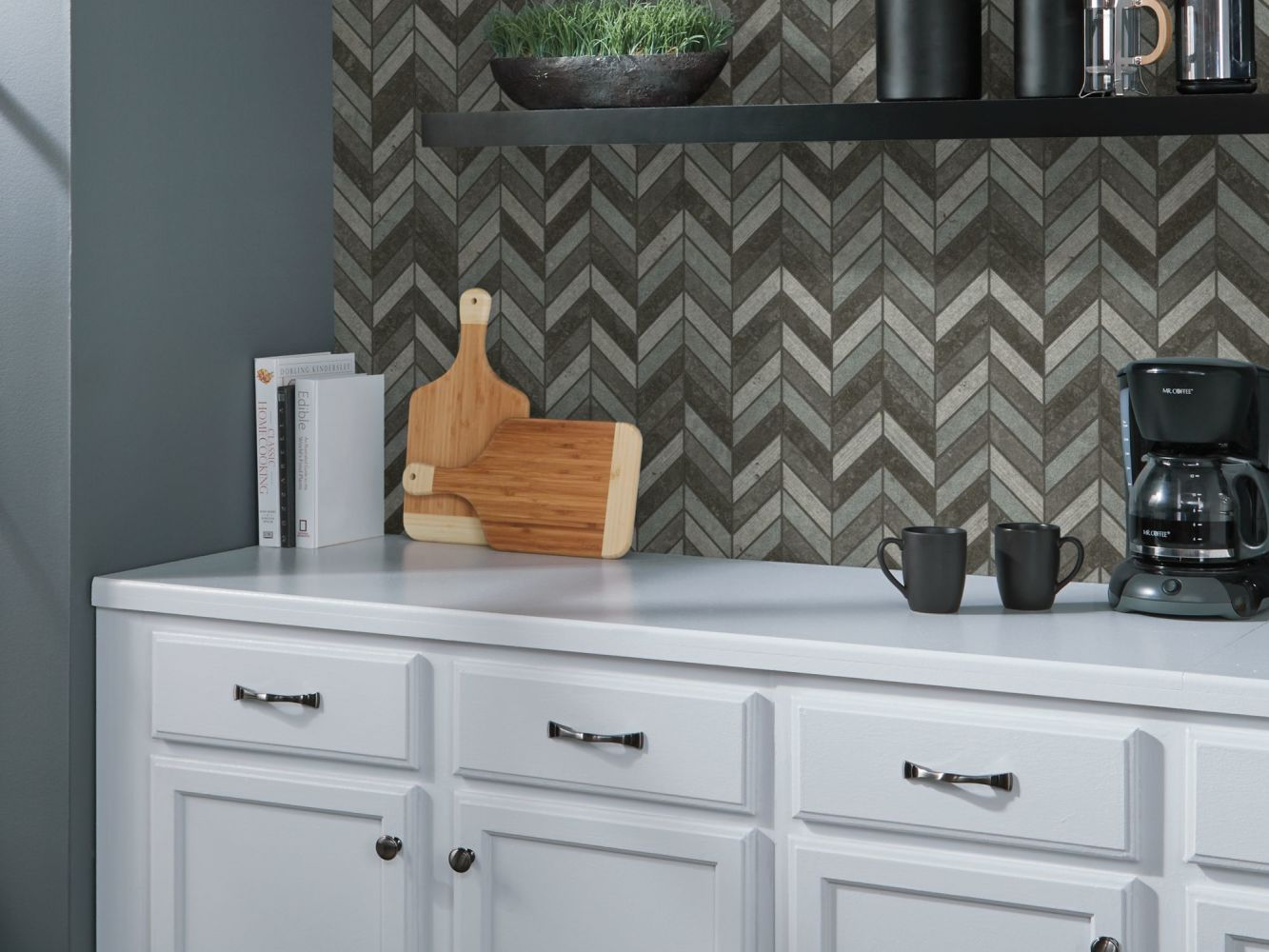 Shaw Floors Ceramic Solutions Boca Chevron Milly Gray 00590_CS29X