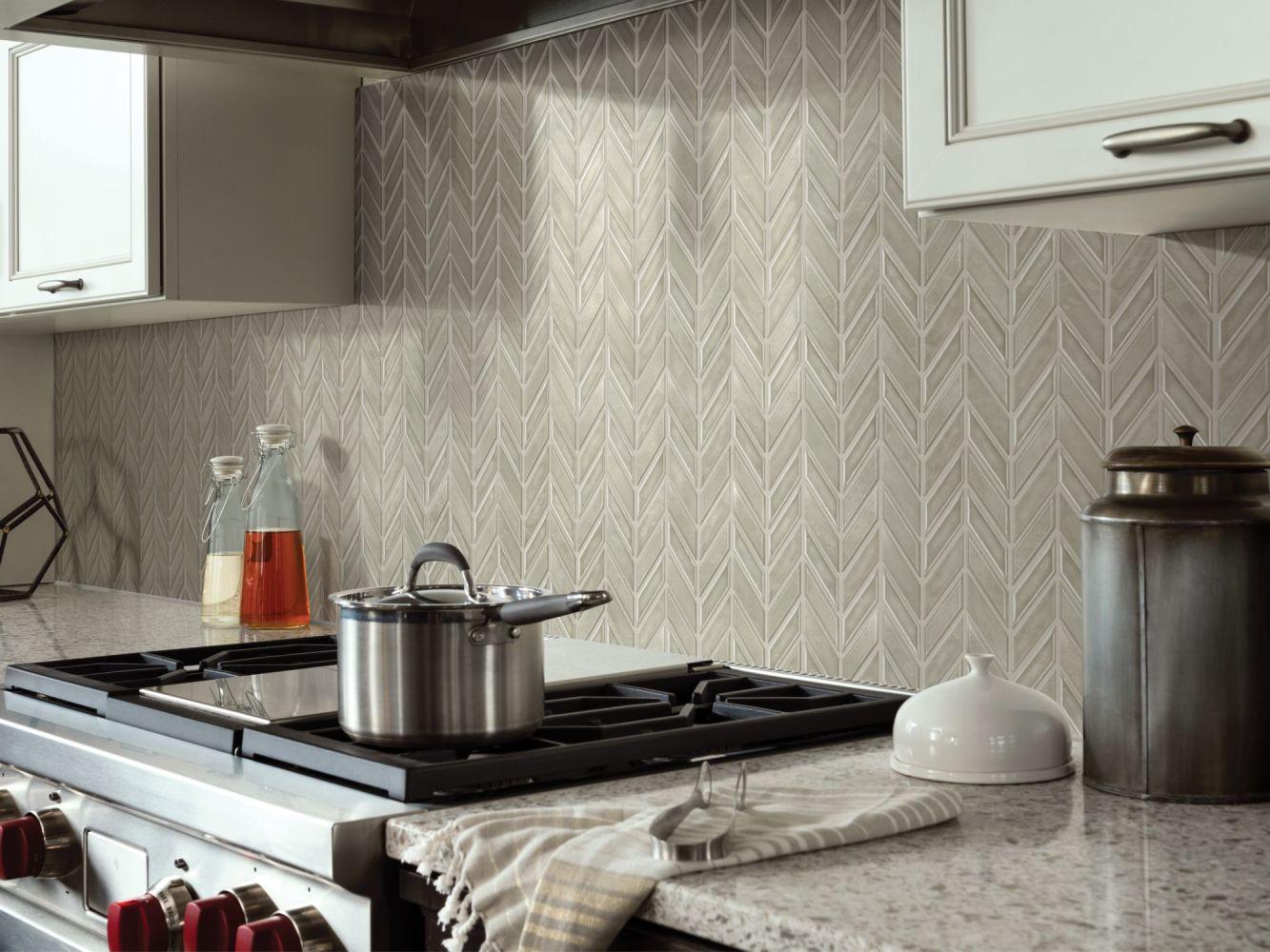 Shaw Floors Ceramic Solutions Geoscapes Chevron Taupe 00250_CS46X