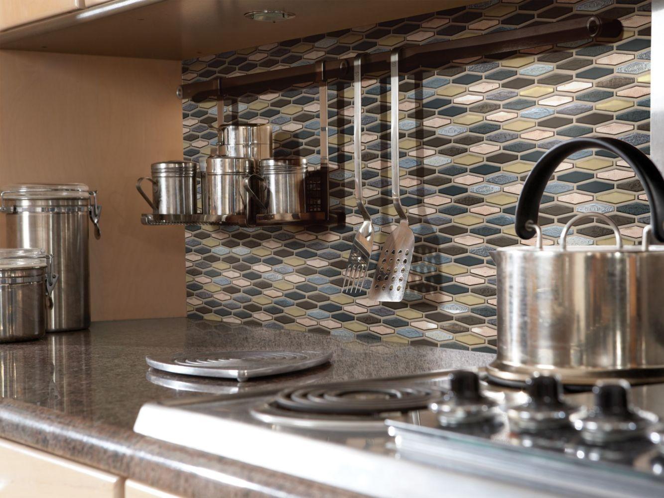 Shaw Floors Ceramic Solutions Molten Stretch Hexagon Glass Bronze 00675_CS54V