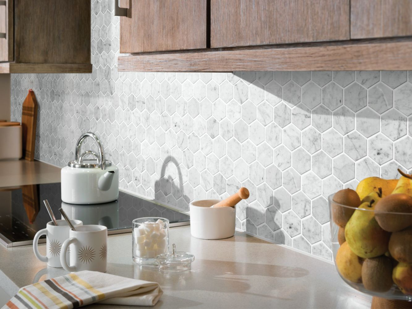 Shaw Floors Ceramic Solutions Chateau Hexagon Mosaic Bianco Carrara 00150_CS56P