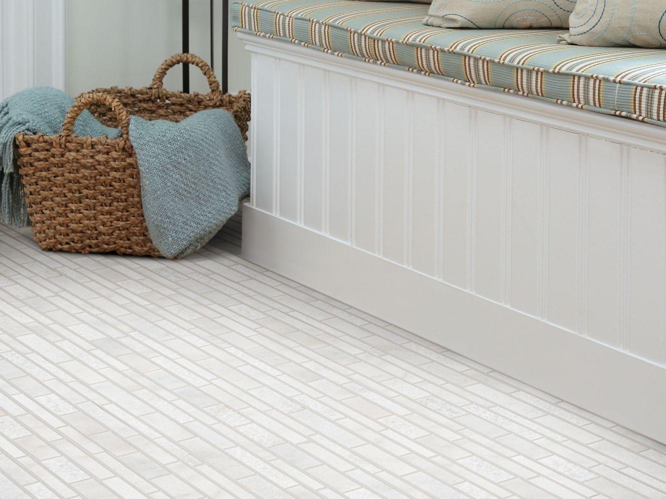 Shaw Floors Ceramic Solutions Boca Random Linear Textured Mo Whitewater 00120_CS78M
