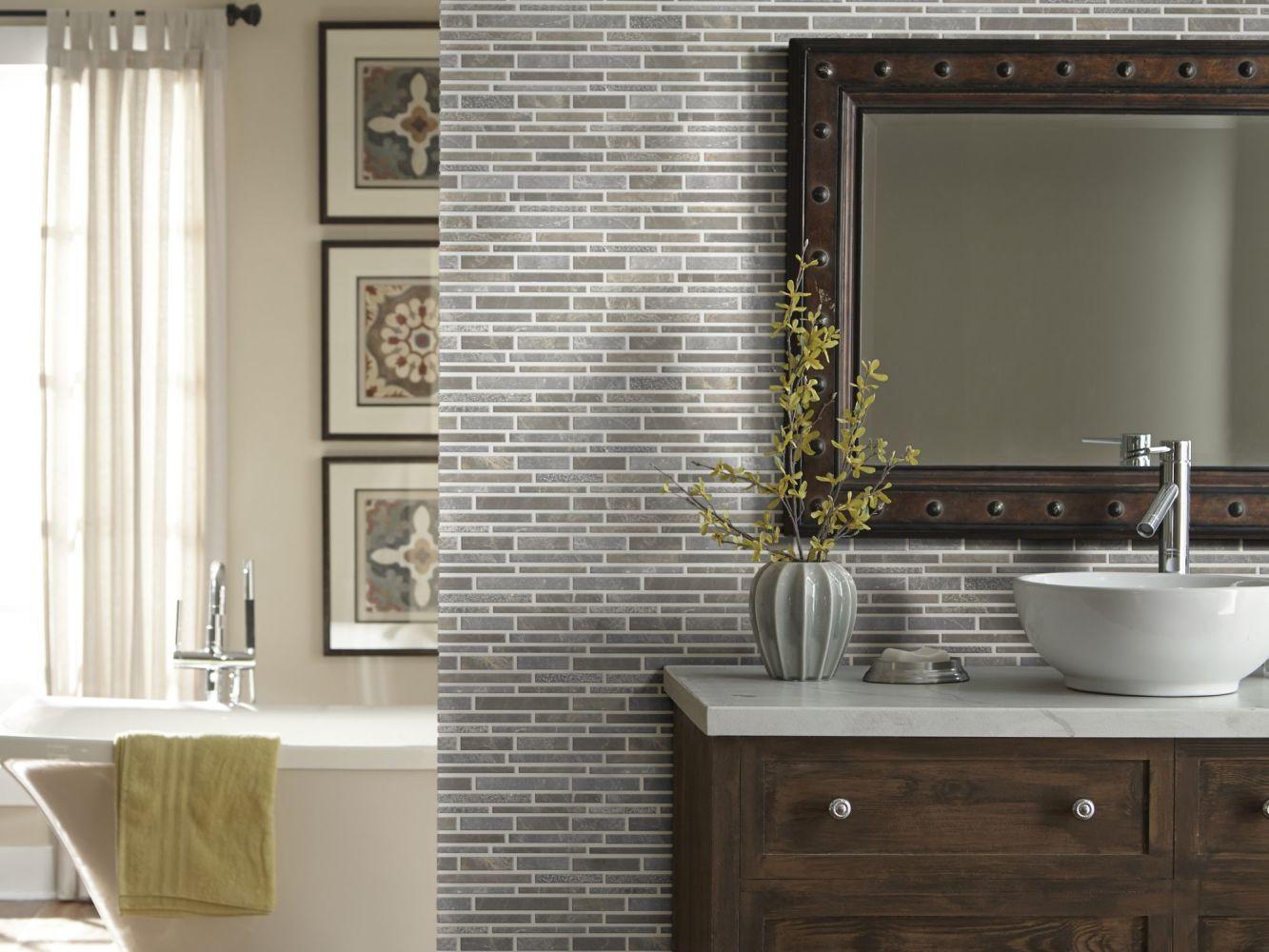 Shaw Floors Ceramic Solutions Boca Random Linear Textured Mo Lagoon 00510_CS78M