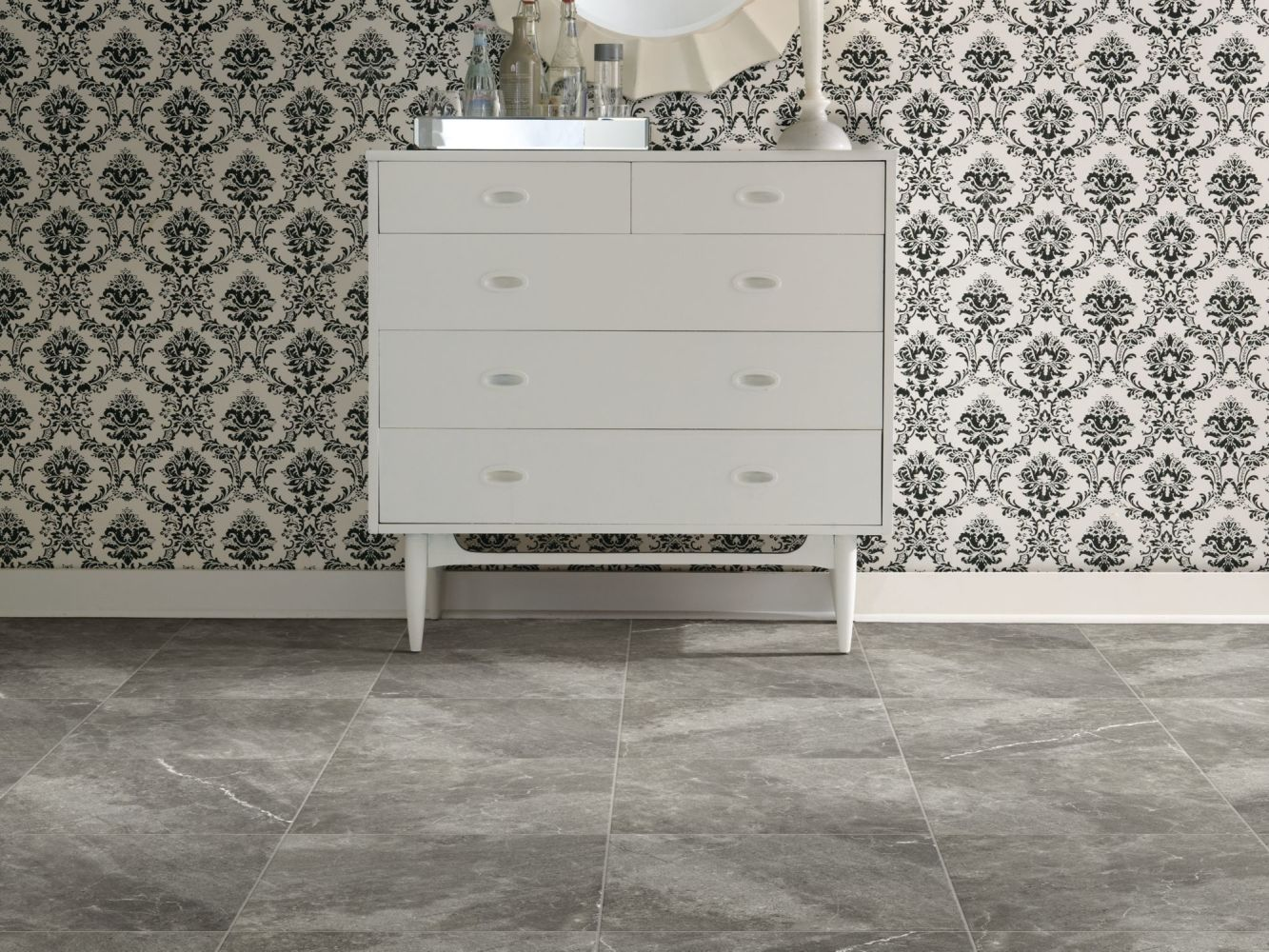 Shaw Floors Ceramic Solutions Oasis Mosaic Dark Grey 00570_CS97Q
