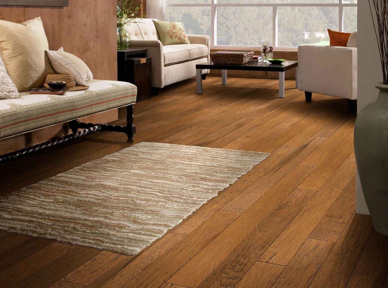Shaw Floors To Go Hardwood Kitridge Hill 5″ Burnt Barnboard 00304_FW163