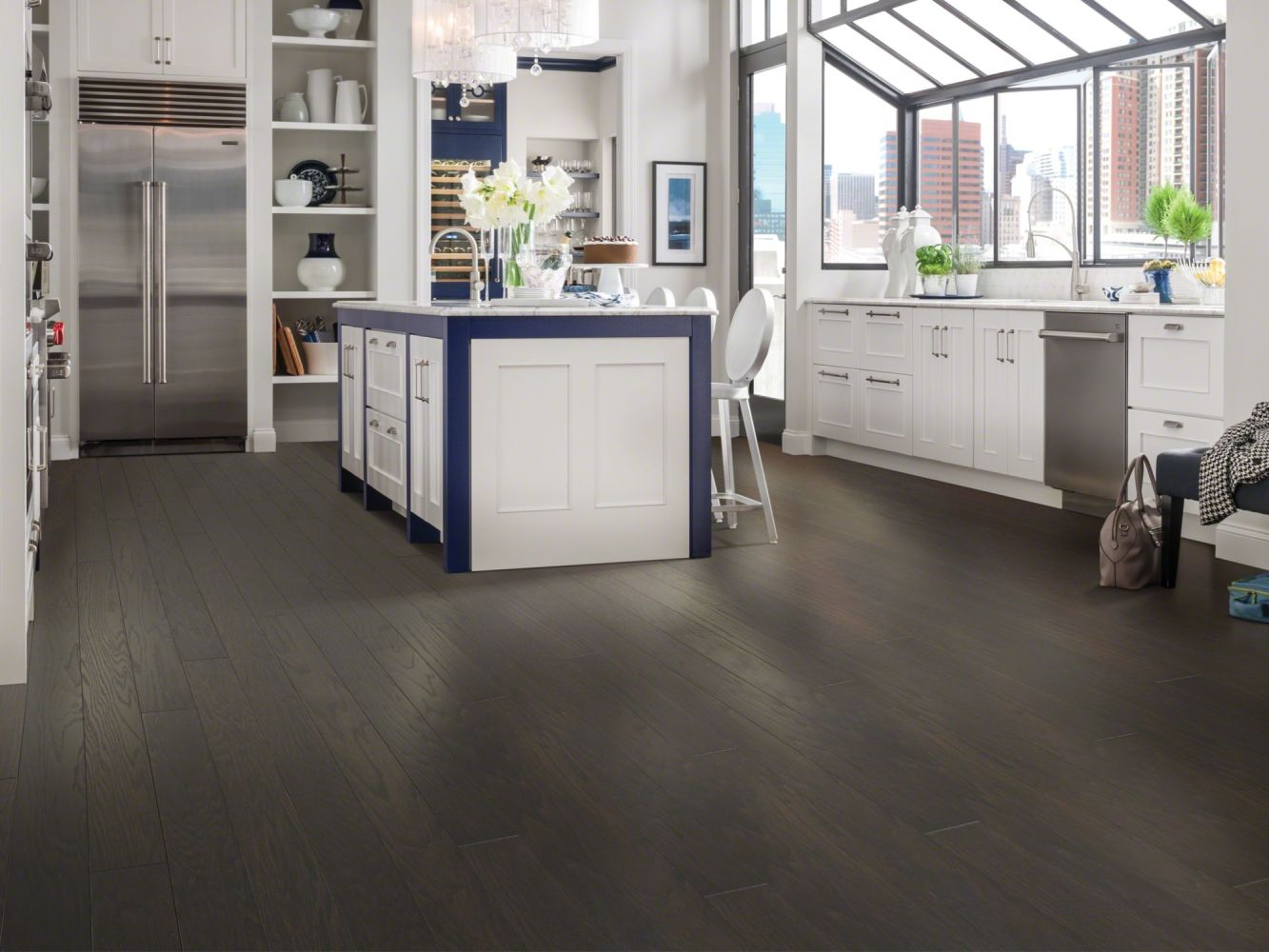 Shaw Floors Duras Hardwood All In II 5 Charcoal 05013_HW582