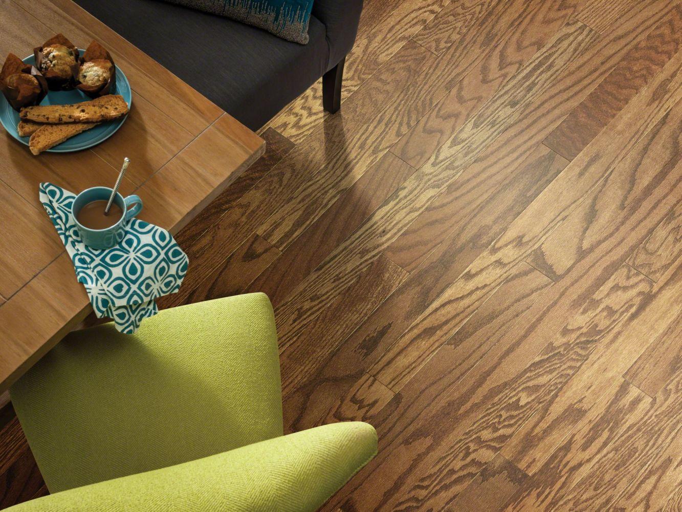 Shaw Floors Home Fn Gold Hardwood Rhapsody 5 Leather 00914_HW675
