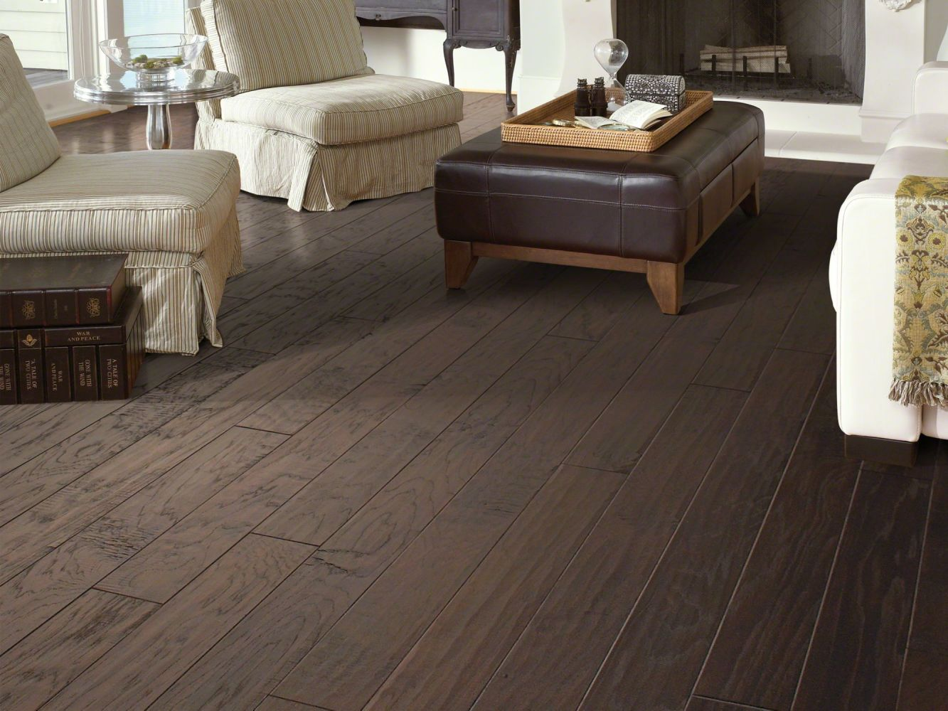 Shaw Floors Shaw Hardwoods Stone Bluff Hickory Olde English 00885_LS400