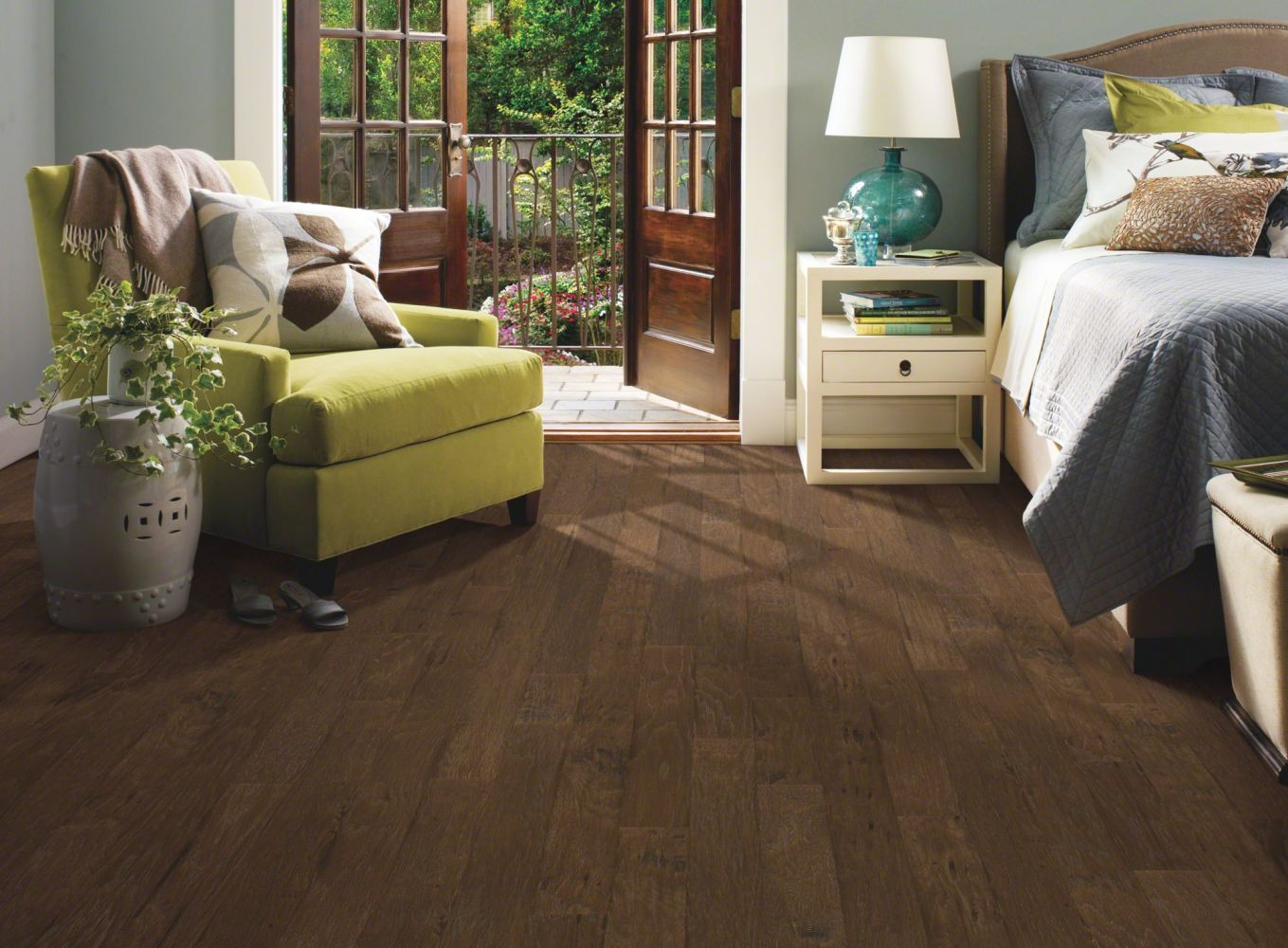 Shaw Floors Shaw Hardwoods Stone Bluff Hickory Weathered Saddle 00941_LS400