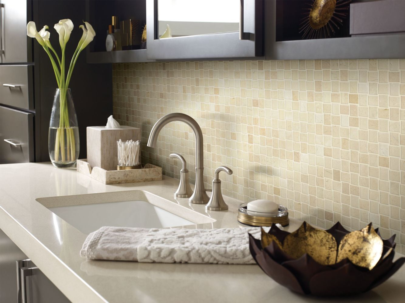 Shaw Floors SFA Pearl Basketweave Mosaic Crema Marfil 00200_SA30A