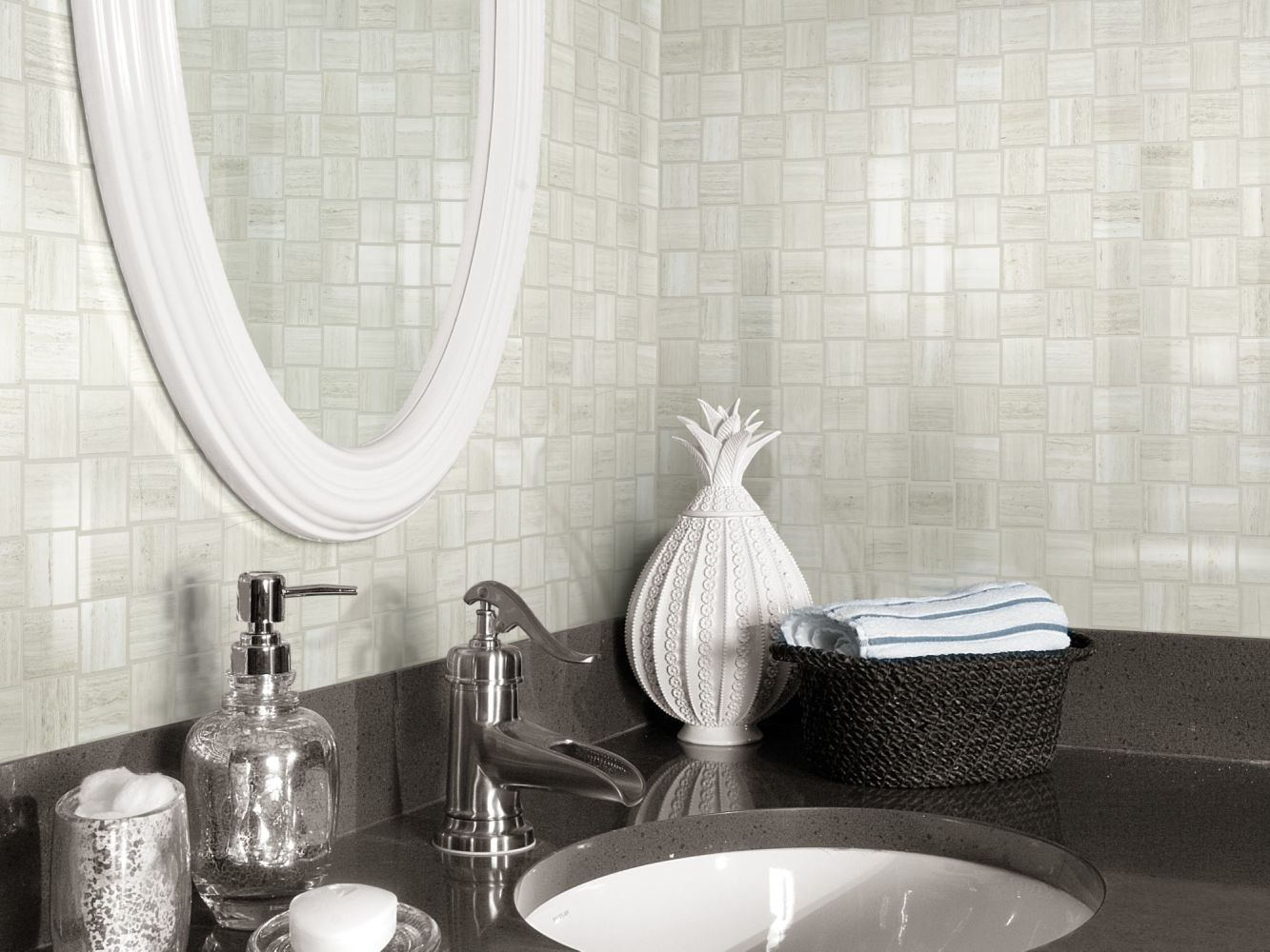 Shaw Floors SFA Vision Bw Mosaic Plsj Ash 00550_SA957