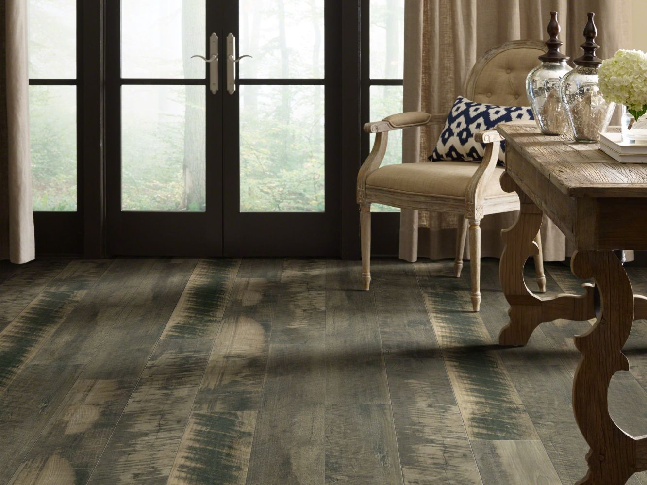 Shaw Floors Versalock Laminate Pier Park Charcoal Gray 05012_SL379