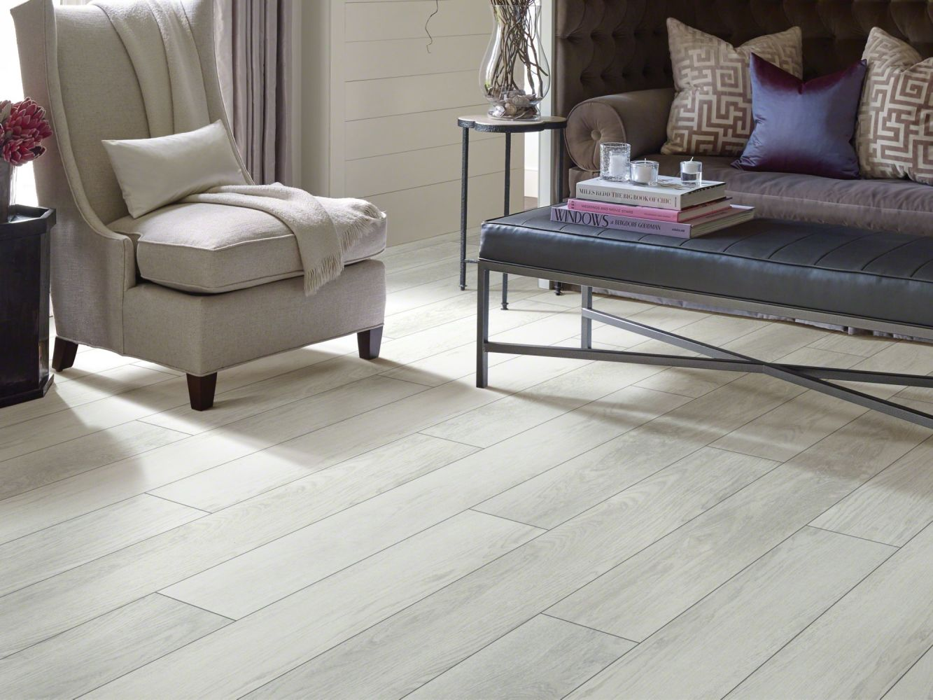 Shaw Floors Versalock Laminate Odyssey Cool White 01020_SL424