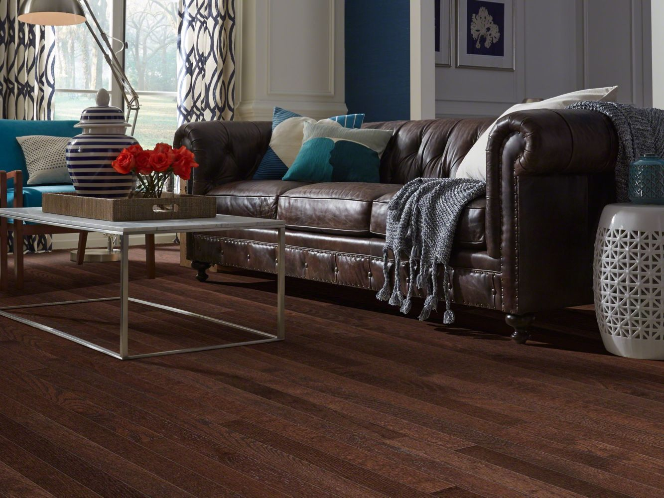 Shaw Floors Oak Solid Golden Opportunity 3 1/4″ 4s Coffee Bean 00958_SW443