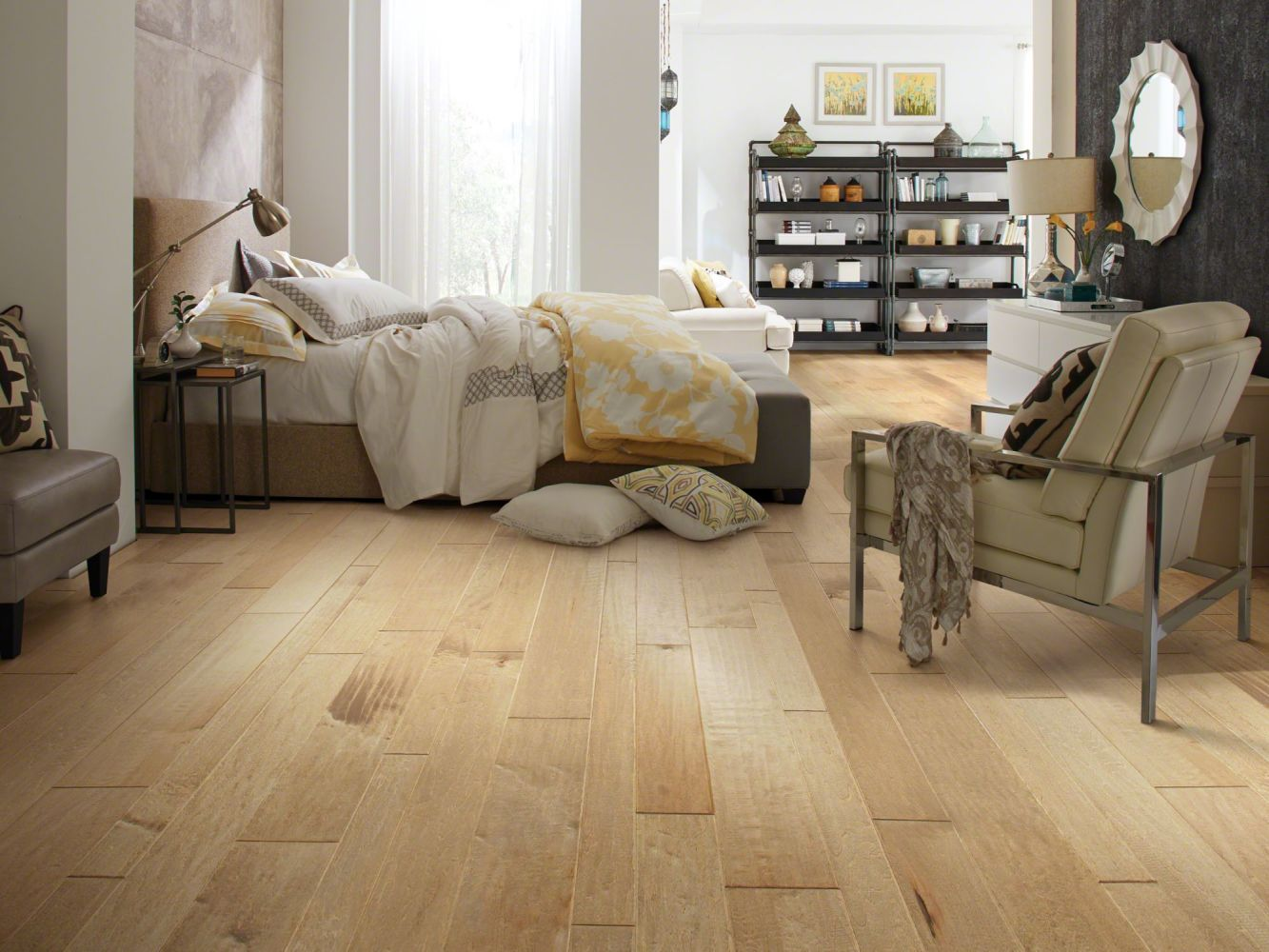 Shaw Floors Shaw Hardwoods Yukon Maple Mixed Width Gold Dust 01001_SW549