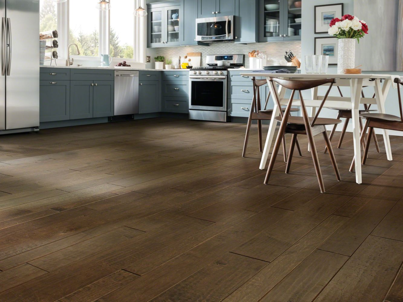 Shaw Floors Shaw Hardwoods Yukon Maple Mixed Width Bison 03000_SW549