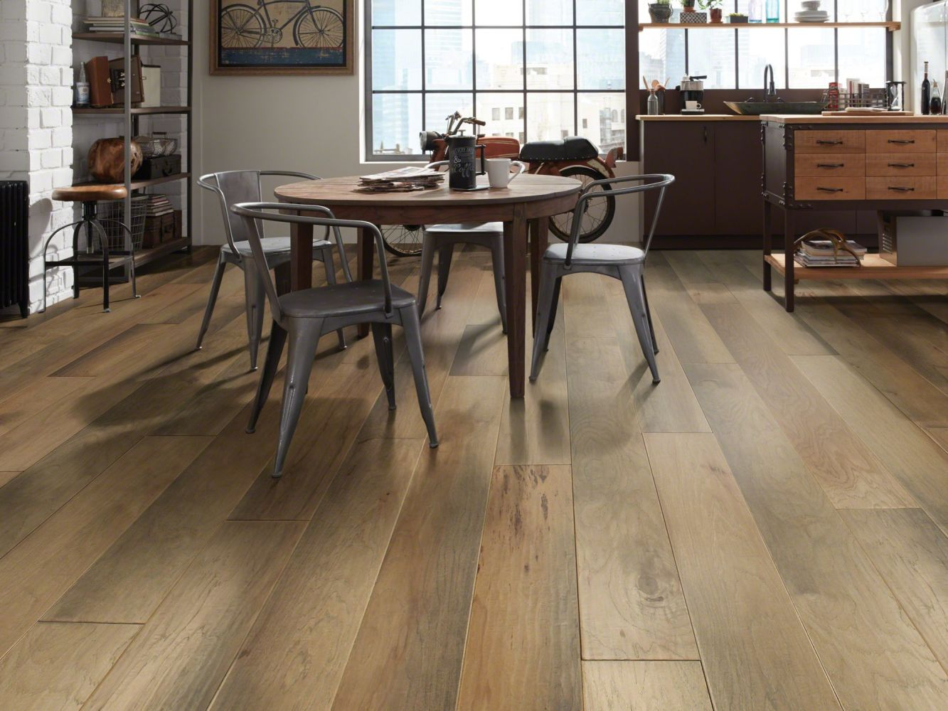 Shaw Floors Repel Hardwood Landmark Hickory Scraped Alamo 11022_SW597