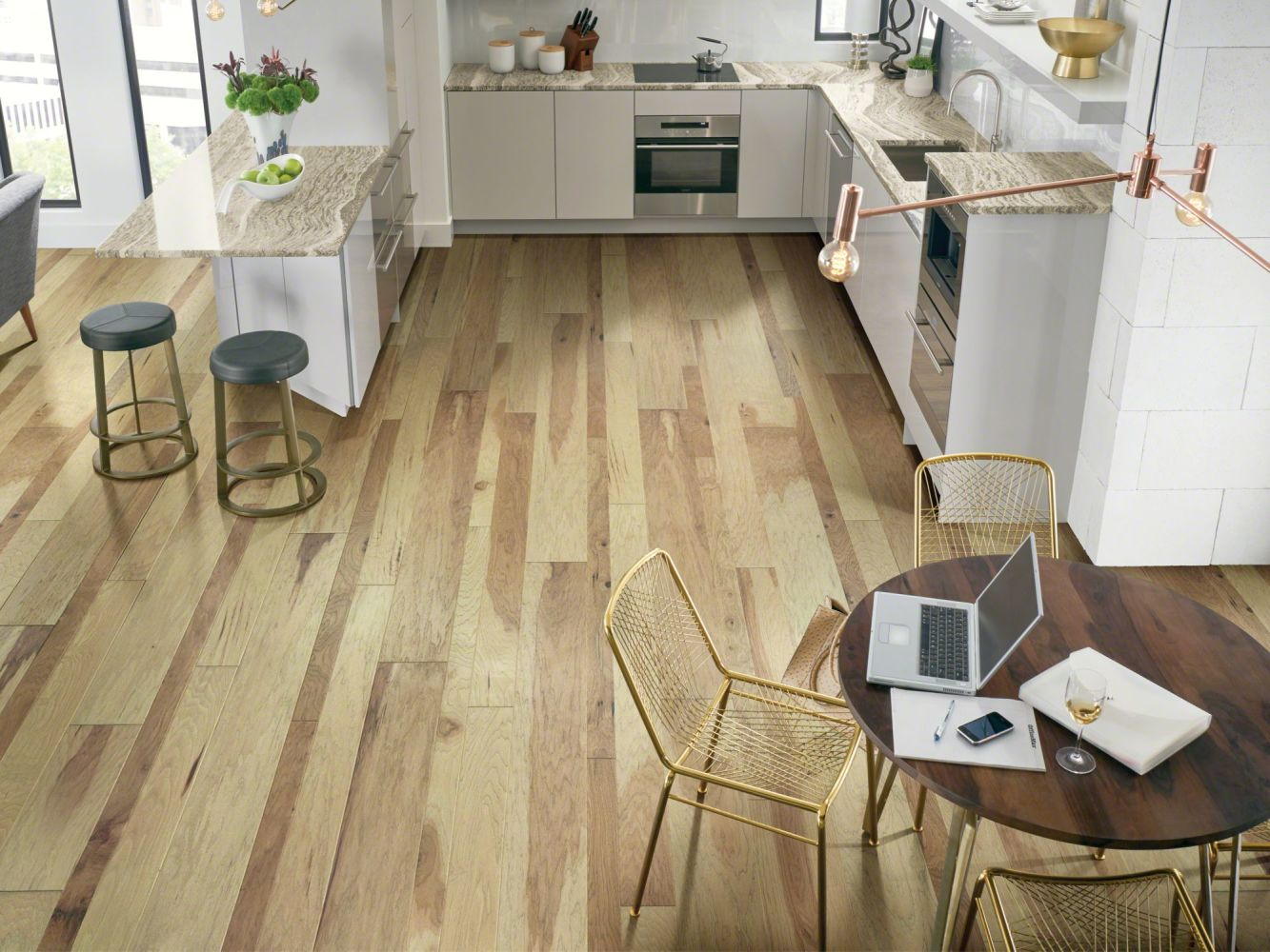 Shaw Floors Repel Hardwood Landmark Mixed Hickory Golden Gate 01059_SW701