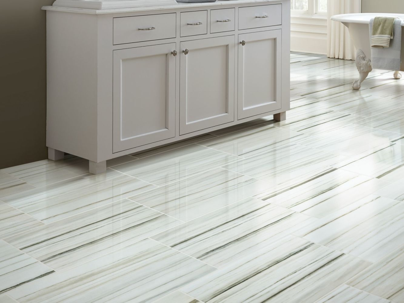 Shaw Floors Home Fn Gold Ceramic Marvel 12×24 Polish Zebrino 00155_TG10C