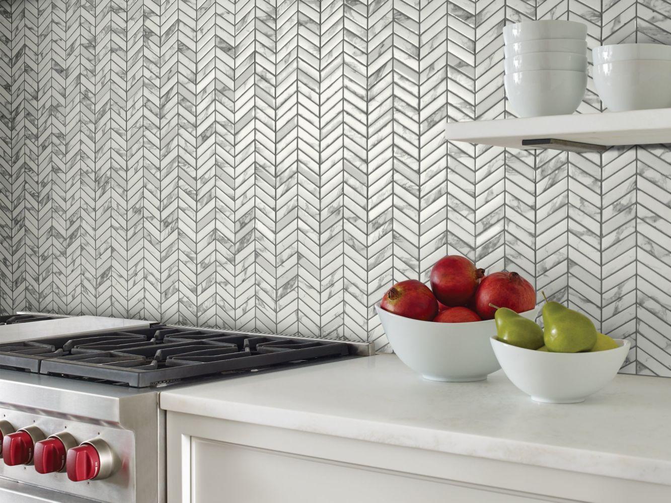 Shaw Floors Home Fn Gold Ceramic Affair Chevron Platinum 00150_TG14E