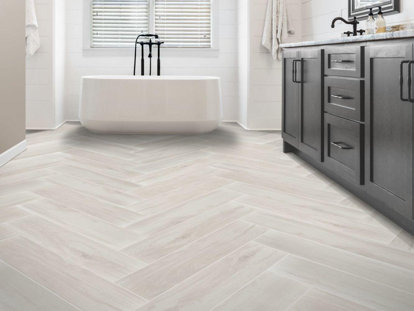 Shaw Floors Home Fn Gold Ceramic Stella 8×36 Snow 00100_TG39E