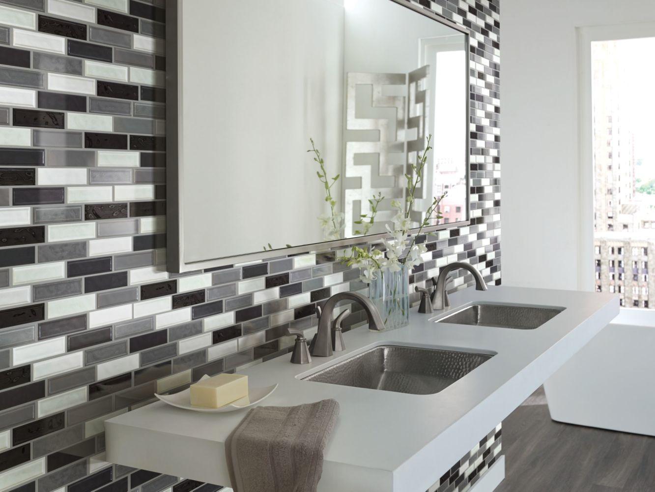 Shaw Floors Home Fn Gold Ceramic Geoscapes Random Linear Cool Blend 00510_TG45C