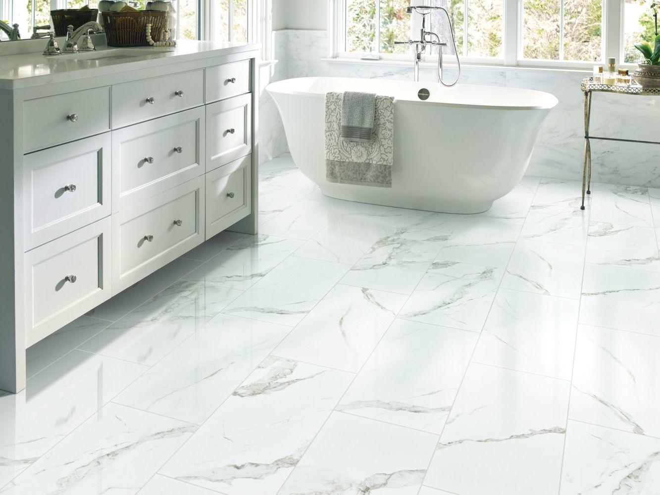 Shaw Floors Home Fn Gold Ceramic Stonehenge 12×24 Matte Statuario 00151_TG46D