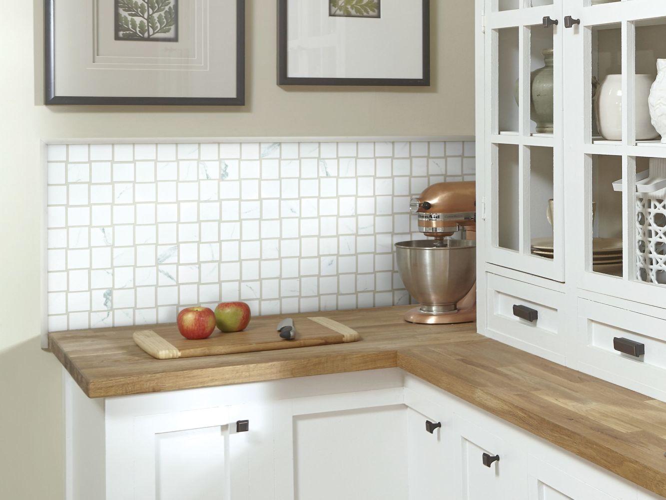 Shaw Floors Home Fn Gold Ceramic Stonehenge Bw Mosaic Plsh Statuario 00151_TG50D