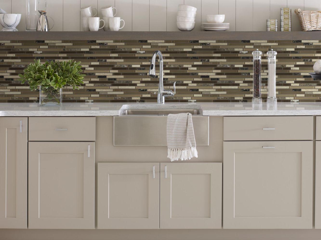 Shaw Floors Home Fn Gold Ceramic Awesome Mix Random Linear Mosi Cappuccino 00700_TG63B