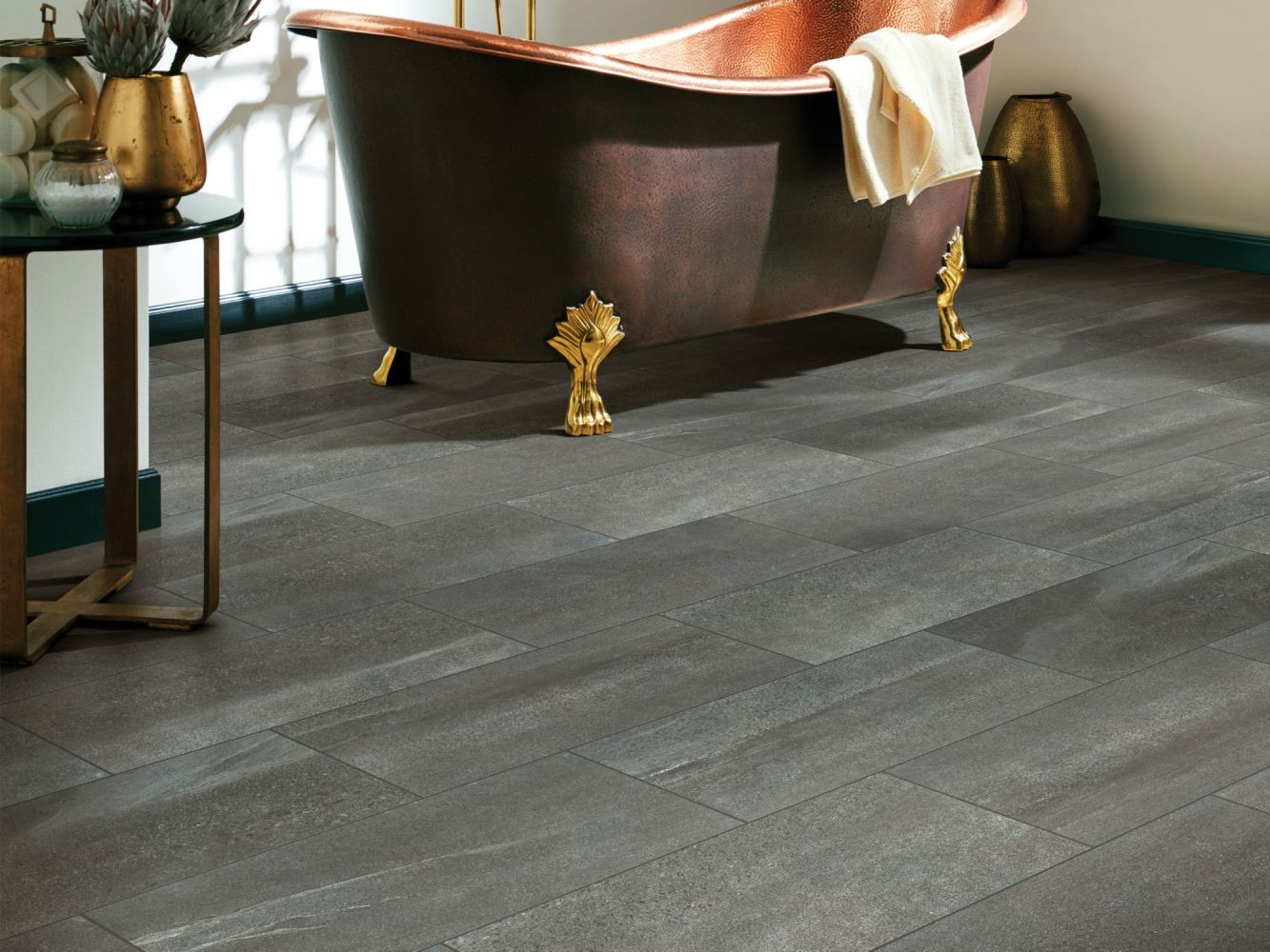 Shaw Floors Home Fn Gold Ceramic Sphinx 12×24 Anthracite 00590_TG65C