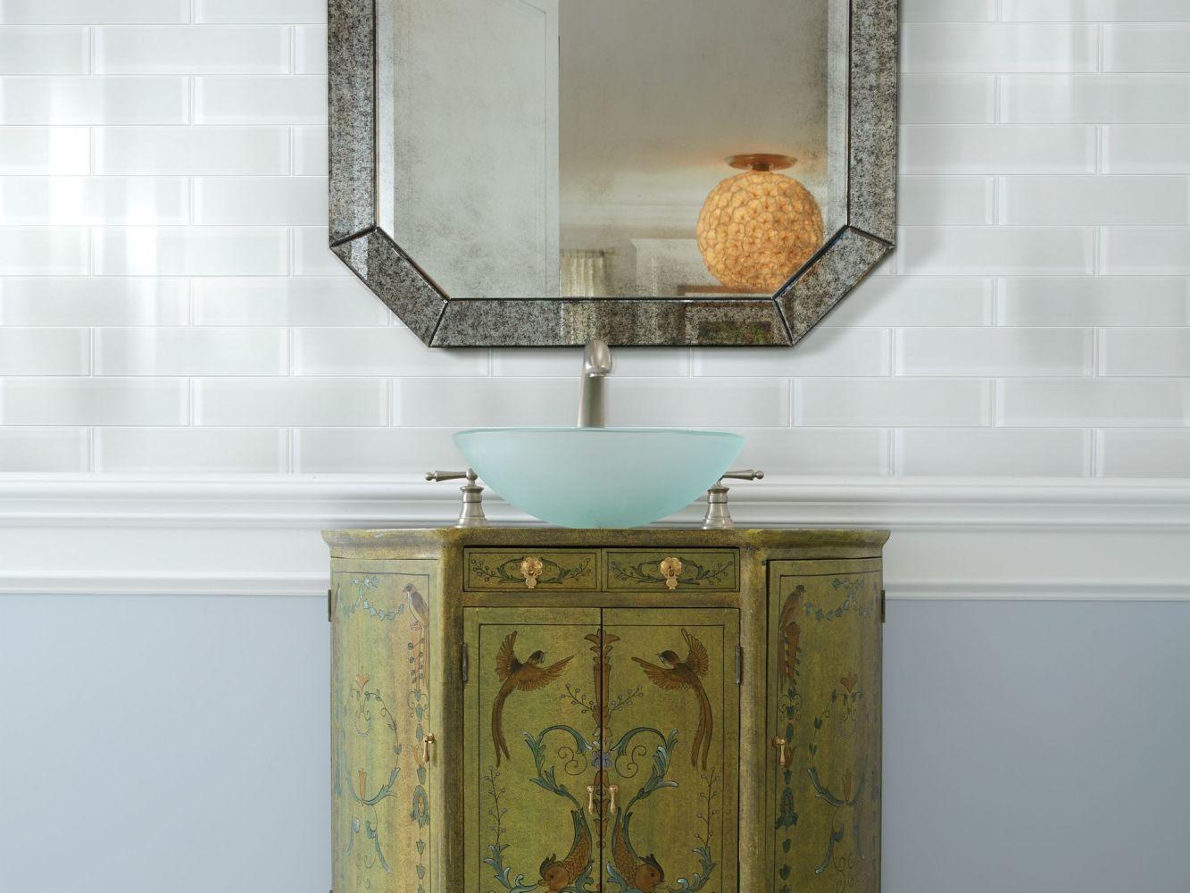 Shaw Floors Home Fn Gold Ceramic Principal 3×12 Glass Tile 2 Ice 00100_TG74B