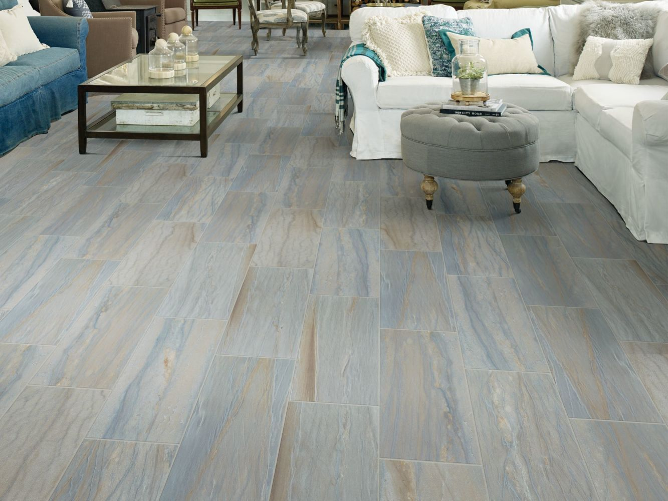 Shaw Floors Home Fn Gold Ceramic Tide Water Mosaic Azul 00450_TG76C