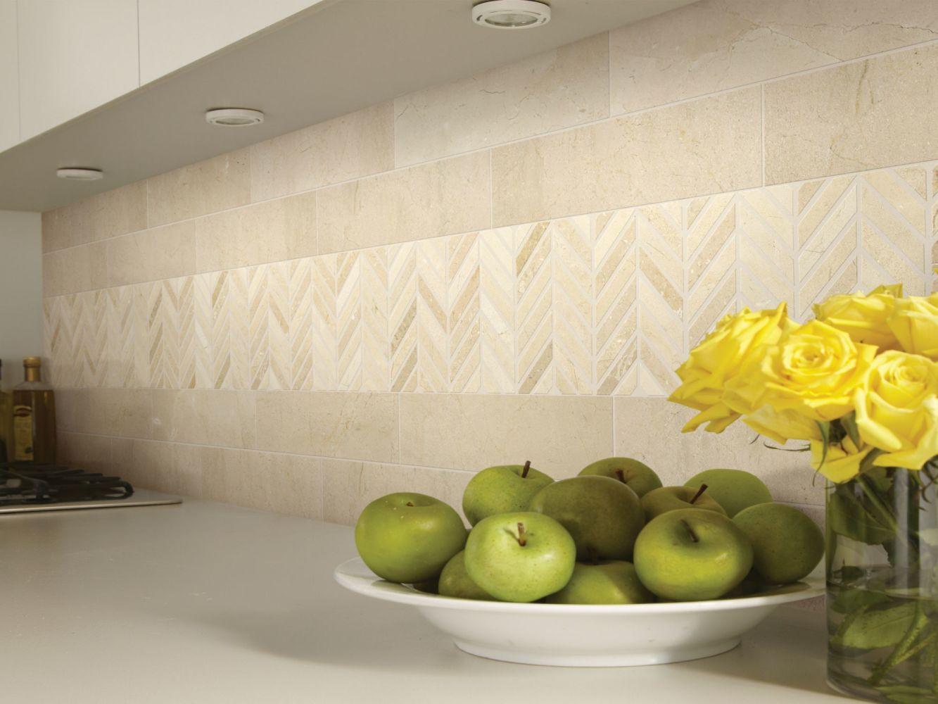 Shaw Floors Home Fn Gold Ceramic Estate 4×16 Crema Marfil 00200_TG85B