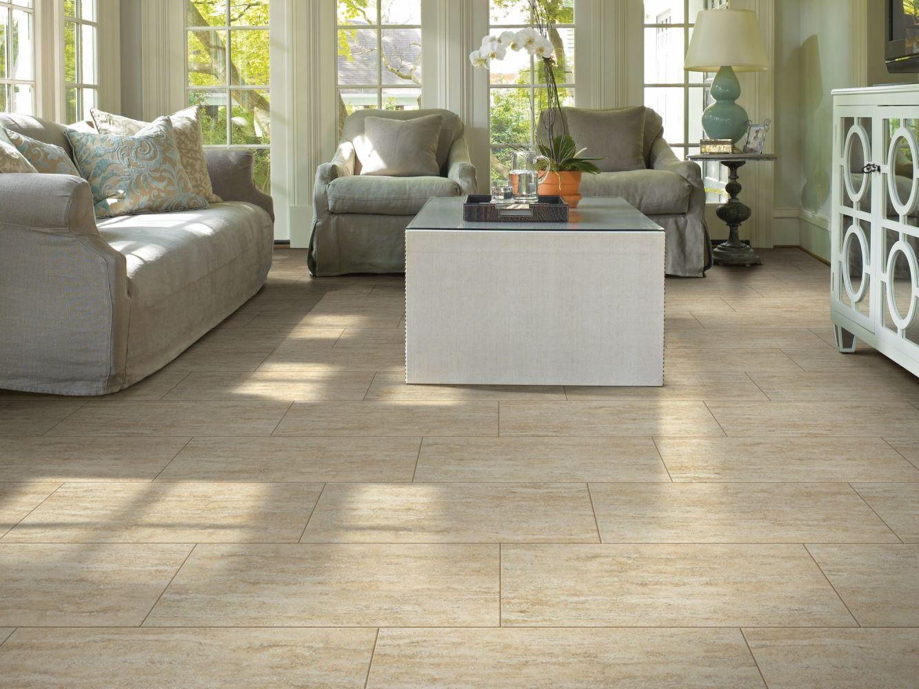 Shaw Floors Home Fn Gold Ceramic Travertino 13×13 Beige 00200_TGH13