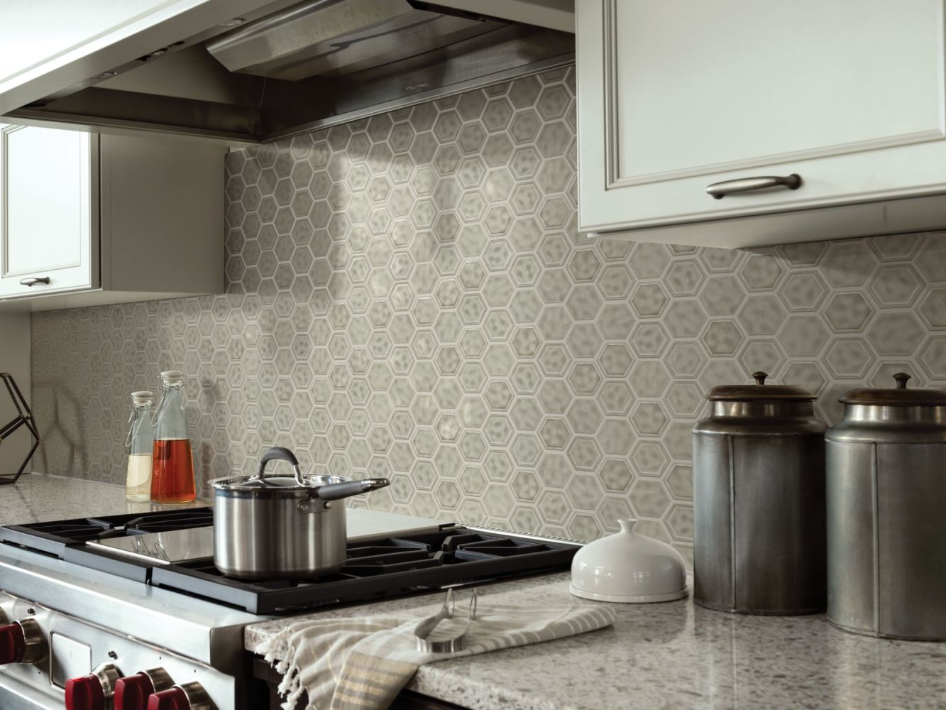 Shaw Floors Home Fn Gold Ceramic Geoscapes Hexagon Taupe 00250_TGJ78