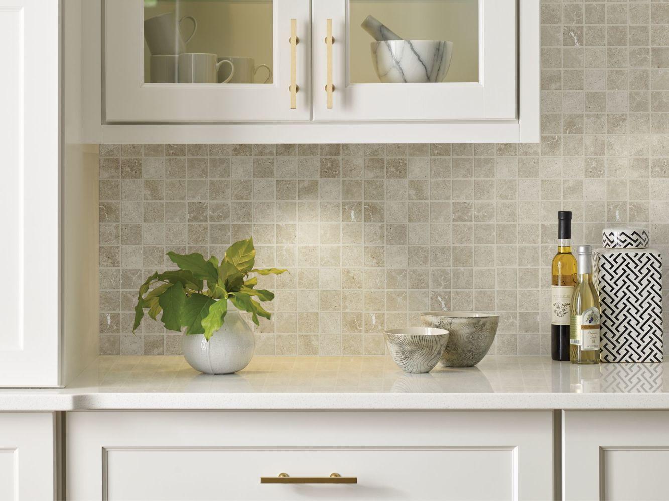Shaw Floors Home Fn Gold Ceramic Serenity Mosaic Light Grey 00500_TGJ92