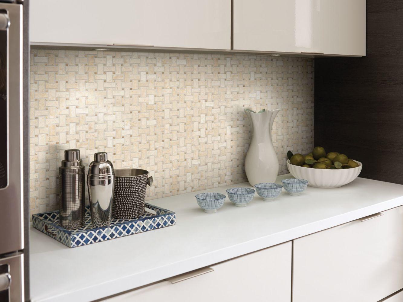 Shaw Floors Home Fn Gold Ceramic Del Ray Basketweave Mosaic Windsurf 00220_TGL27