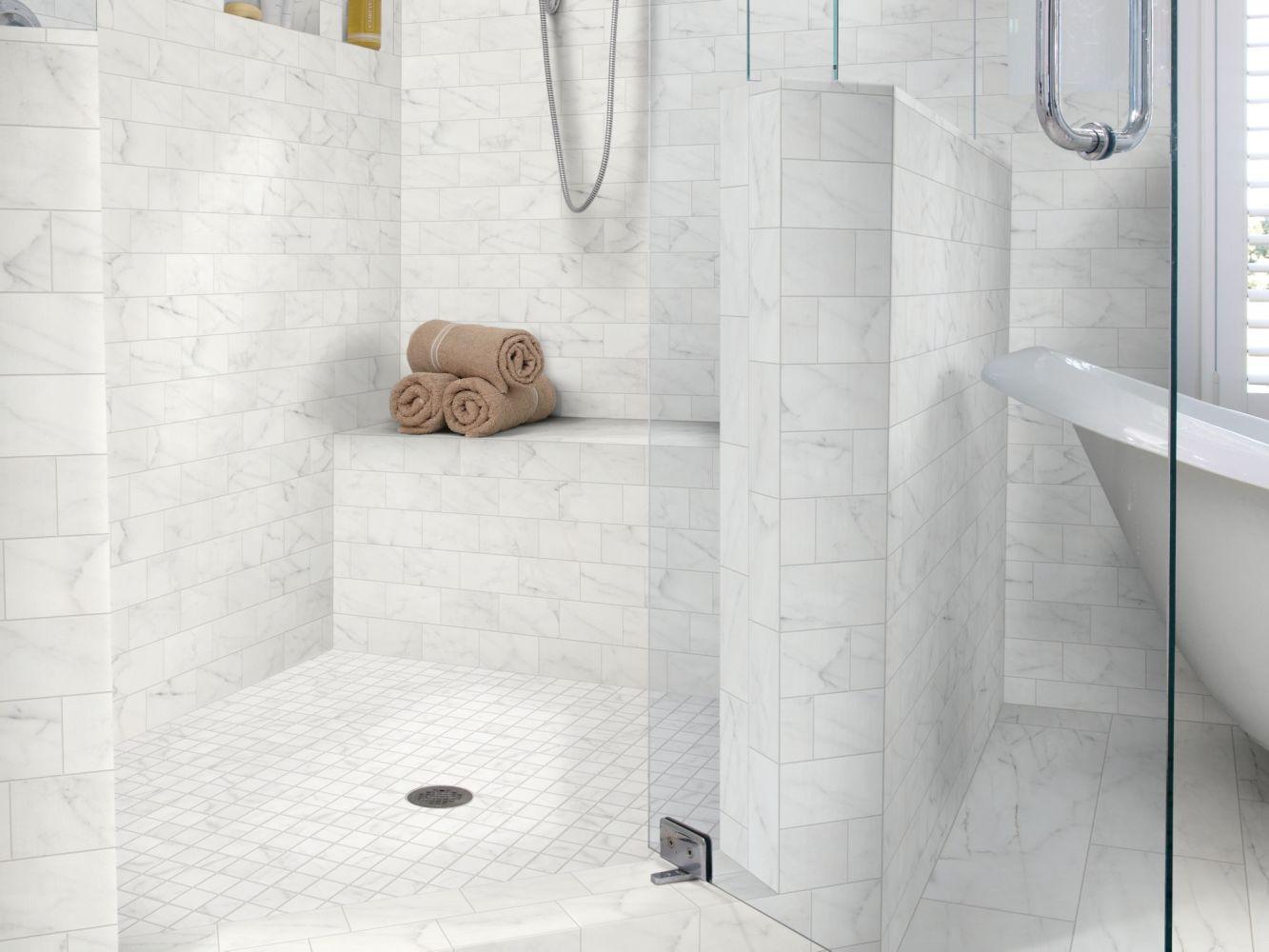 Shaw Floors Home Fn Gold Ceramic Caracalla 3×6 Wall Carrara 00150_TGM46