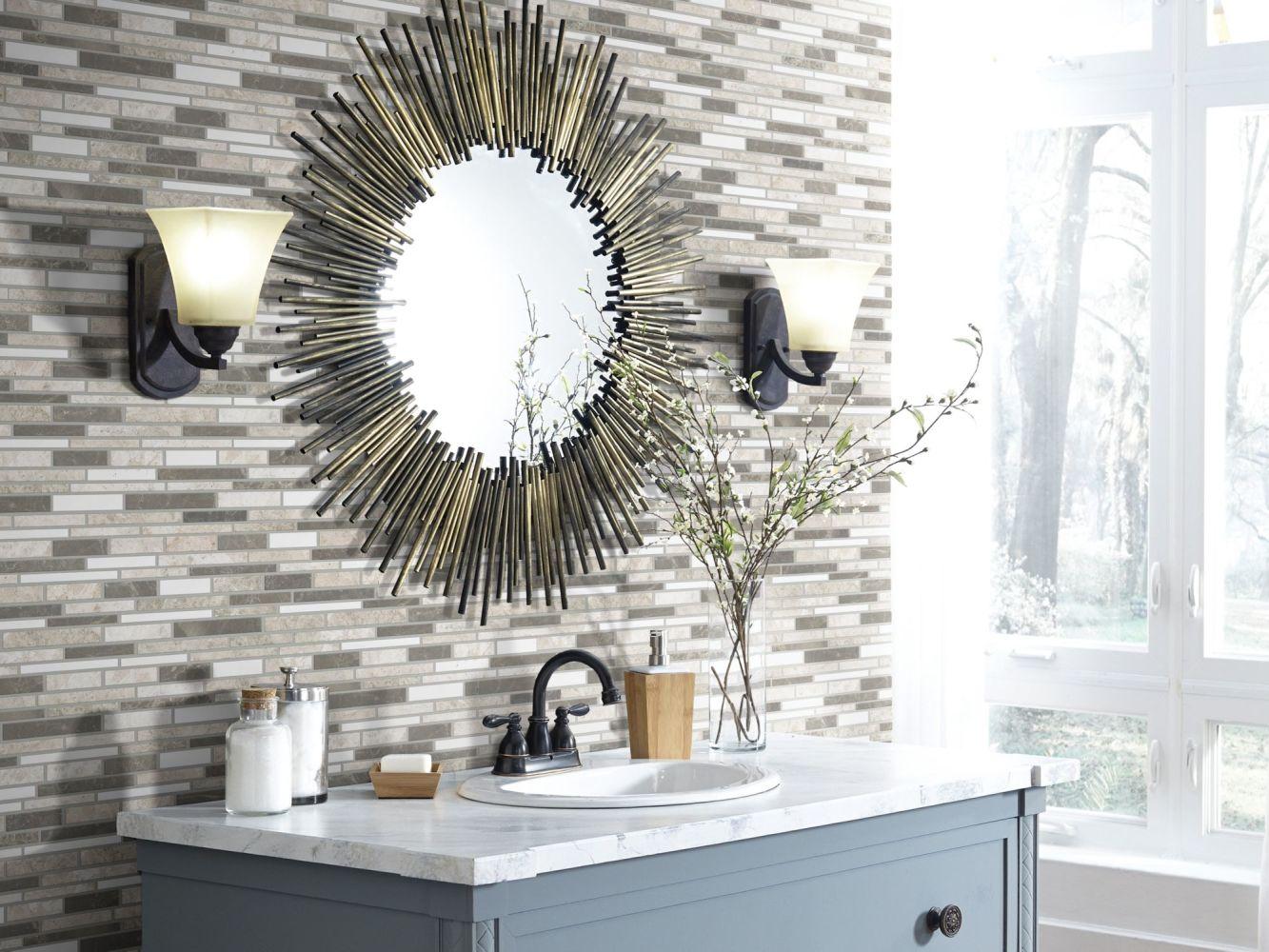 Shaw Floors Home Fn Gold Ceramic Del Ray Random Linear Mosaic Jetty 00151_TGN14