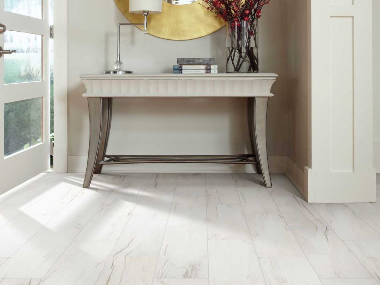 Shaw Floors Home Fn Gold Ceramic Traveler 6×24 White 00100_TGN64