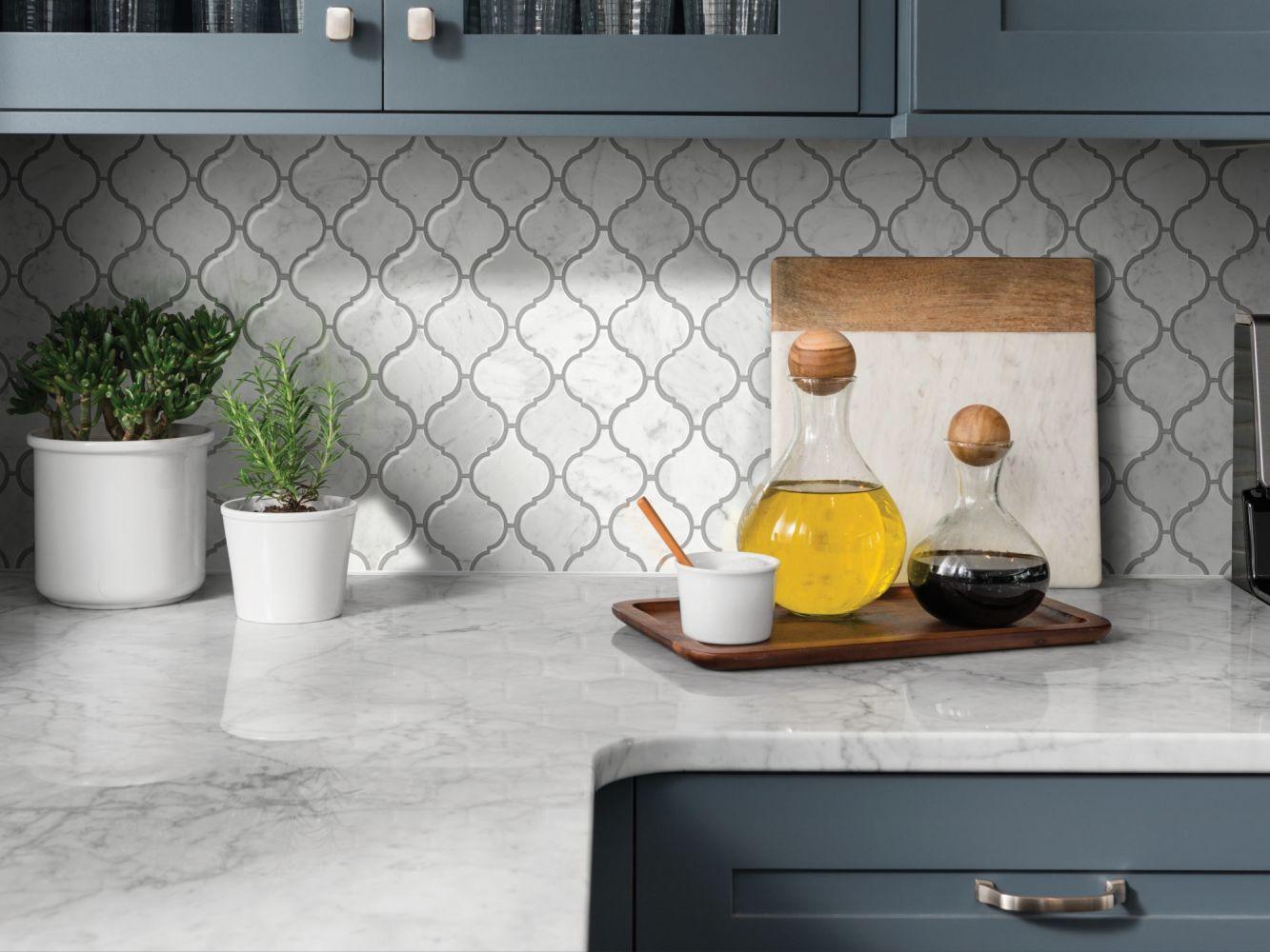 Shaw Floors Home Fn Gold Ceramic Estate Lantern Mosaic Bianco Carrara 00150_TGN86