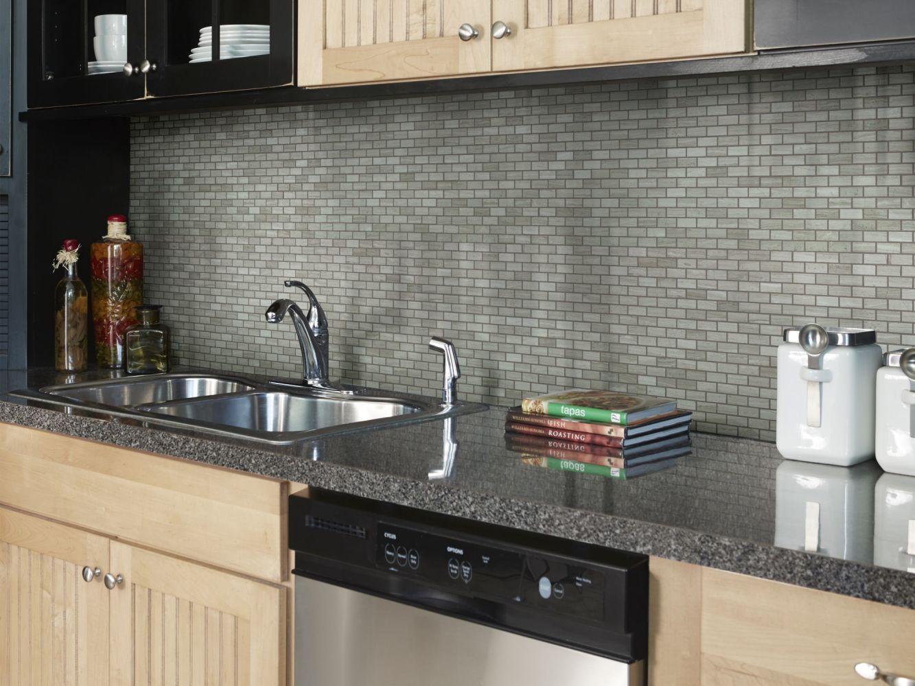 Shaw Floors Home Fn Gold Ceramic Estate Mini Brick Mosaic Rockwood 00500_TGN90